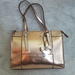 Classic Guess Rose Gold Square Satchel Bag NWT